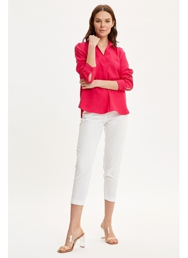 DeFacto Basic Uzun Kollu Bluz Pembe